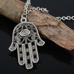 Good Luck Protection Hamsa Symbol Fatima Hand Evil Eye Pendant C