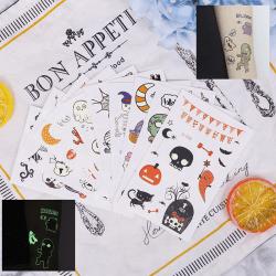 Halloween Glow In Dark Bat Eyes Wall Decals Sticker Decoration F Ei-010
