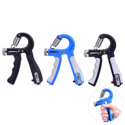 Hand Grip Trainer Gripper Strengthener Adjustable Gym Wrist Stre Black