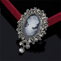 Hot Vintage Cameo Victorian Style crystal Wedding Party Women P