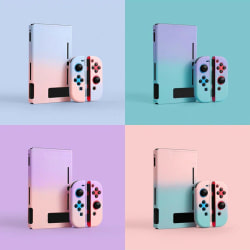 Kawaii Gradient Hard Case Cover for Switch Console Jon-Con Snap  Purple&Pink Case