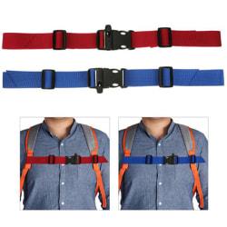 Kids Buckle clip strap adjustable chest harness bag backpack sho Black
