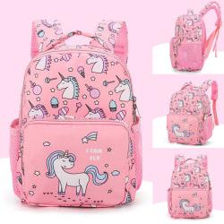 Kindergarten Unicorn Little Girls Kids School Bags Book Backpack pink