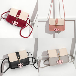 Korean Fashion Women''s Cute Heart Sling Bag Black