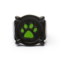 Ladybug Cat Noir ring Anime Jewelry Black Stainless Steel Ring H diameter 1.7cm