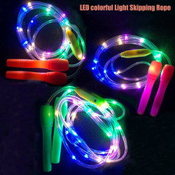 Light Up Led Skipping Rope Kids Children Jump Exercise Fitness K Random Color
