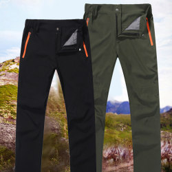 Men Outdoor Hiking Pants Breathable Waterproof Windproof Running Army green L