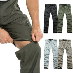 Men Quick Dry Outdoor Hiking Pants Casual Trousers Shorts Conver Army green S