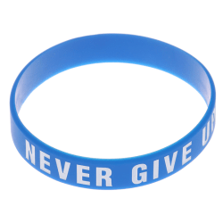 Never Give Up Silicone Bracelet Inspirational Sports Hand With S Black