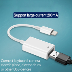 OTG adapter for lightning to USB For iPhone camera connection k