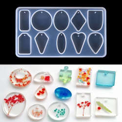 Pendant Silicone Resin Mold for DIY Jewelry Making Tool Mould H White