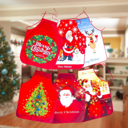 Polyester Kitchen Pattern Crafts Christmas Apron Decorations Cla C