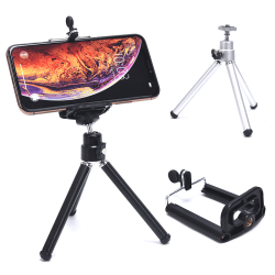 Portable Professional Adjustable Camera Tripod Stand Mount+Cell  Silver