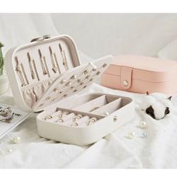 Portable Travel Jewelry Box Organize Velvet Earring Ring Display A
