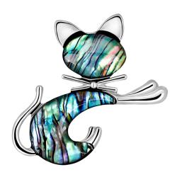 Retro abalone shell broschnål bröllop brudbukett djur ca