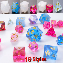 Silicone Dice Pendant Jewelry Making Mold Resin Epoxy Mould Cast 19