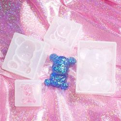 Silicone Mold Bear Shape Resin Mould DIY Making Jewelry Pendant B