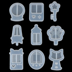 Silicone Molds DIY Resin Cat''s Claw Stars Gamer Maze Charms Je C