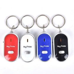 Smart Keyring Whistle Keychain Tracker Anti-Lost Finder Sound Co Black