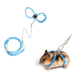 Squirrel Mouse Glider Leash Adjustable Collar Mouse Hamster Walk A1