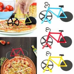 Stainless Steel Bicycle Pizza Cutter Bike Dual Slicer Chopper Ho Blue
