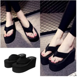 Summer Anti-slip flip-flops Women Wedge Heel Sandal Platform Sho 40