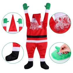 Super Large Velvet Santa Claus Decoration Clothes Hanging on the one size