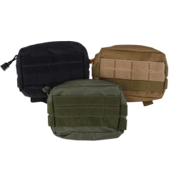 Tactical Molle Pouch EDC Multi-purpose Belt Waist Pack Bag Utili Black