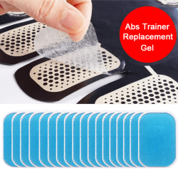 Trainer Replacement Gel Sheet EMS Abs Trainer Muscle Gel Pad Wai 18Pcs