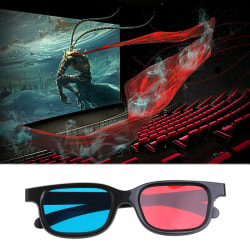 Universal red blue 3d glasses for dimensional anaglyph movie ga Onesize