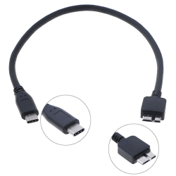 USB c to micro usb cable type c to micro b cable for hdd hard d One Size