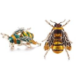 Vintage Enamel Bee Brooch Pin Shirt Animal Metal Pin Clothing Ac Black