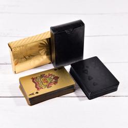 Waterproof Plastic Playing Cards Gold/black Diamond Poker Cards  black
