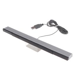 Wii Sensor Bar Wired Receivers IR Signal Ray USB Plug Replaceme one size