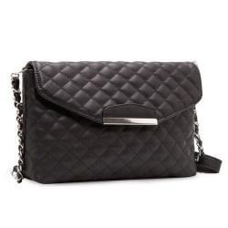 Women Ladies Leather Shoulder Bag Satchel Clutch Handbag Tote Pu Black