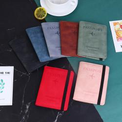 Kvinnor Män Vintage Business Pass Cover Holder Multi-Functio Gray