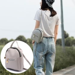 Women Mini Backpack PU Leather Shoulder School Rucksack Ladies G Black