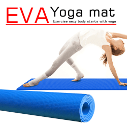 Yoga Mat Non Slip Carpet Mat For Beginner Environmental Fitness  Dark blue