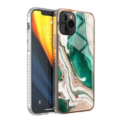 iPhone 12 Skal Marmor - Emerald Wave