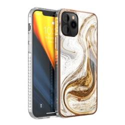 iPhone 12 Skal Marmor - Caramel Wave