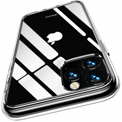 2-Pack iPhone 11 Pro Max - slimmat genomskinligt skal transparent