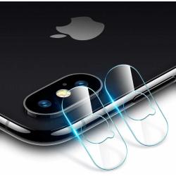 2-Pack iPhone X/Xs Kamera Härdat Glas Skärmskydd