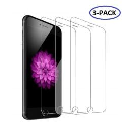 3-Pack iPhone 6 Plus/6S Plus/7 Plus/8 Plus Skärmskydd Härdat