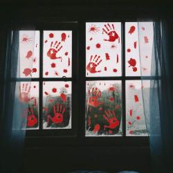 Blodiga Händer - väggdekor stickers