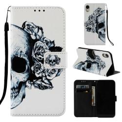 Dödskallar iPhone XR Plånboksfodral skull