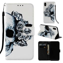 Dödskalle iPhone X/Xs Plånboksfodral skull