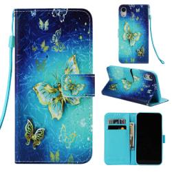Fjärilar iPhone XR Plånboksfodral guld fjäril