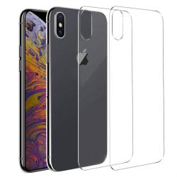 GadgetMe 2-Pack iPhone X/Xs Skärmskydd Baksida Härdat Glas HD