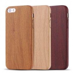 GadgetMe iPhone 6/6S - Trä mönstrade baksideskal Träskal brun