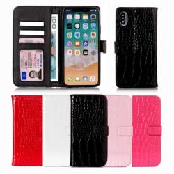 GadgetMe iPhone 7/8 Plus / Plånboksfodral - Krokodil mönster svart